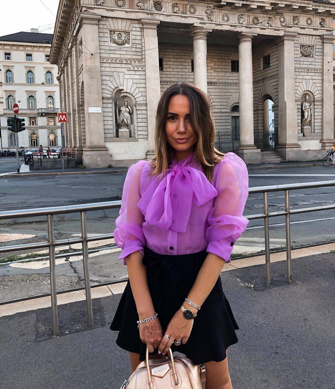 organza blouse with bow de Zara sur giuliaquinto