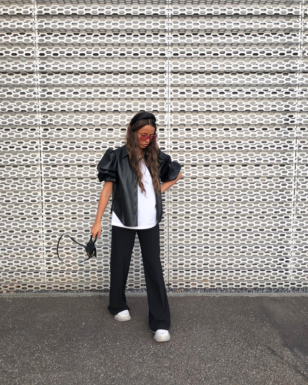 chemise en cuir synthétique de Zara sur sachabaleriaux