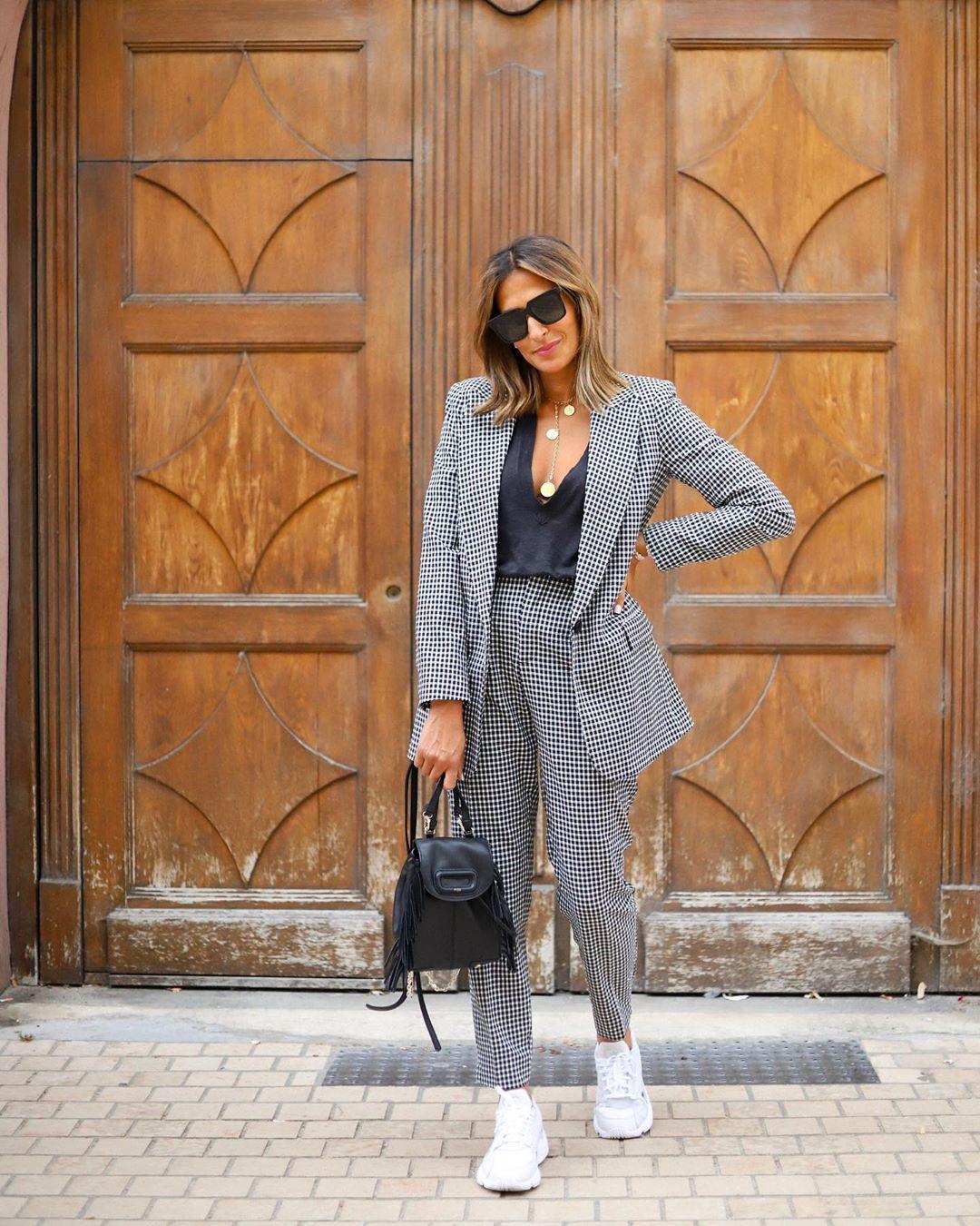 gingham plaid pants de Zara sur yasmine.zeroc