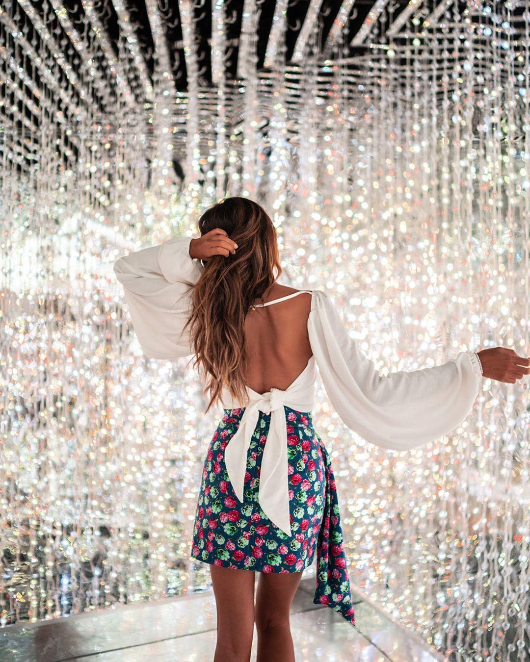 jupe à nœud imprimée de Zara sur junesixtyfive