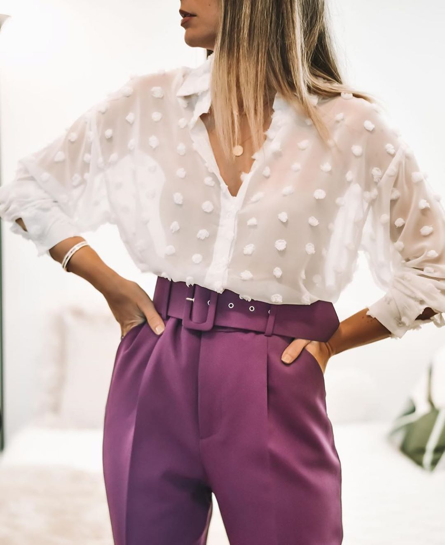 blouse satinée de Zara sur zara.outfits