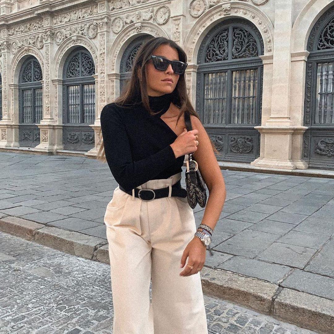 pull à col montant asymétrique de Zara sur zara.outfits