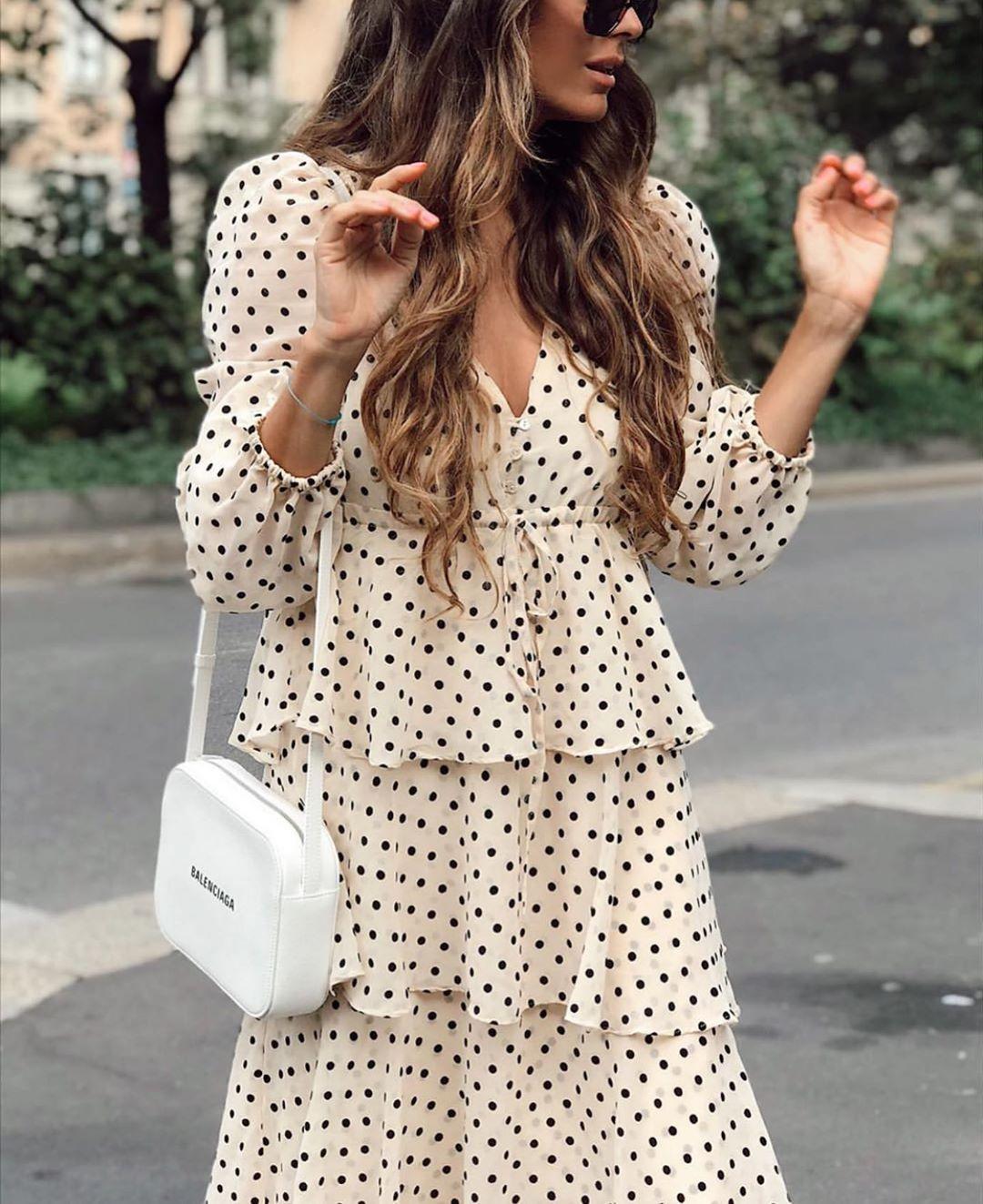 robe à pois et volants de Zara sur zara.outfits