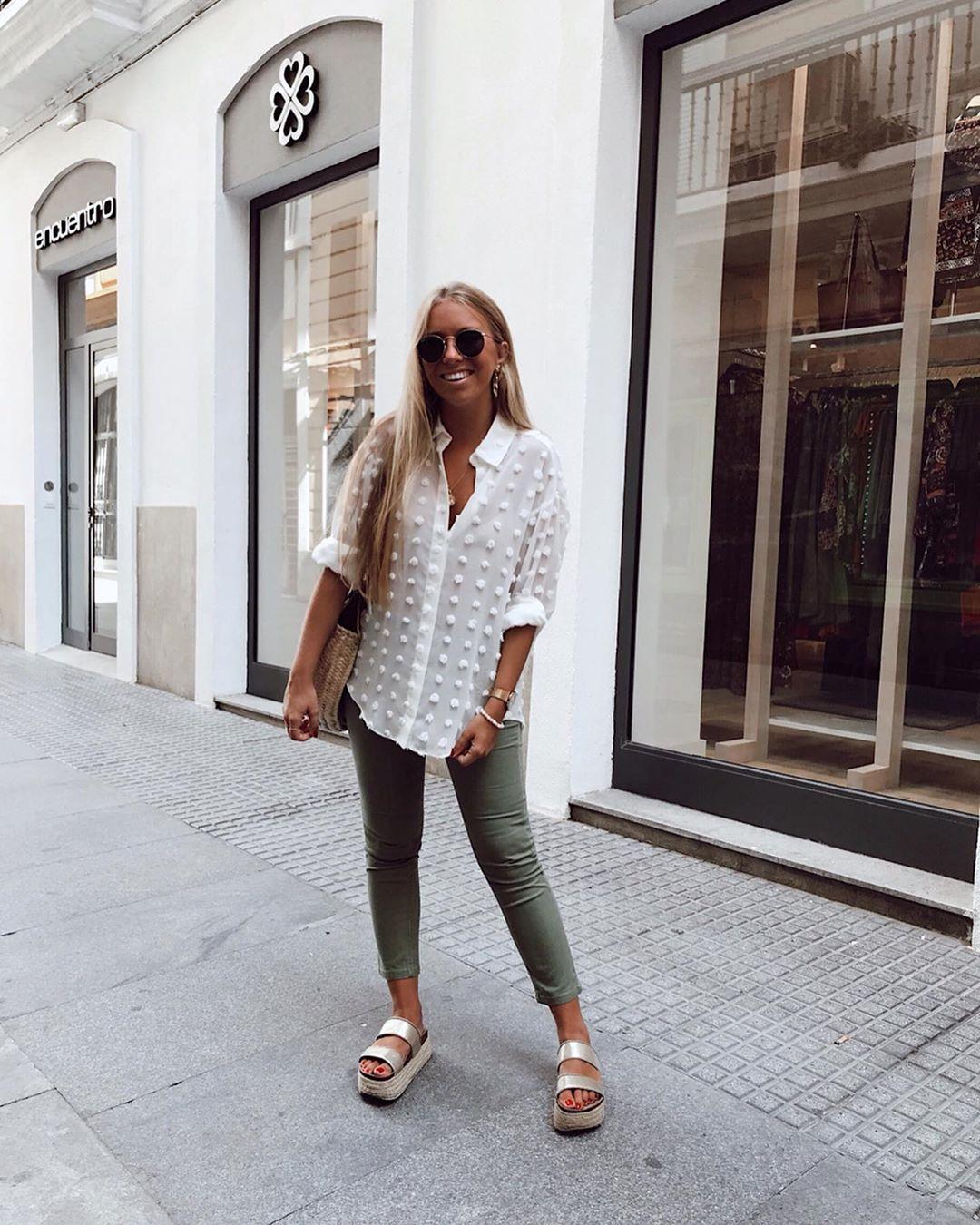 polka dot shirt de Zara sur isaamoraales
