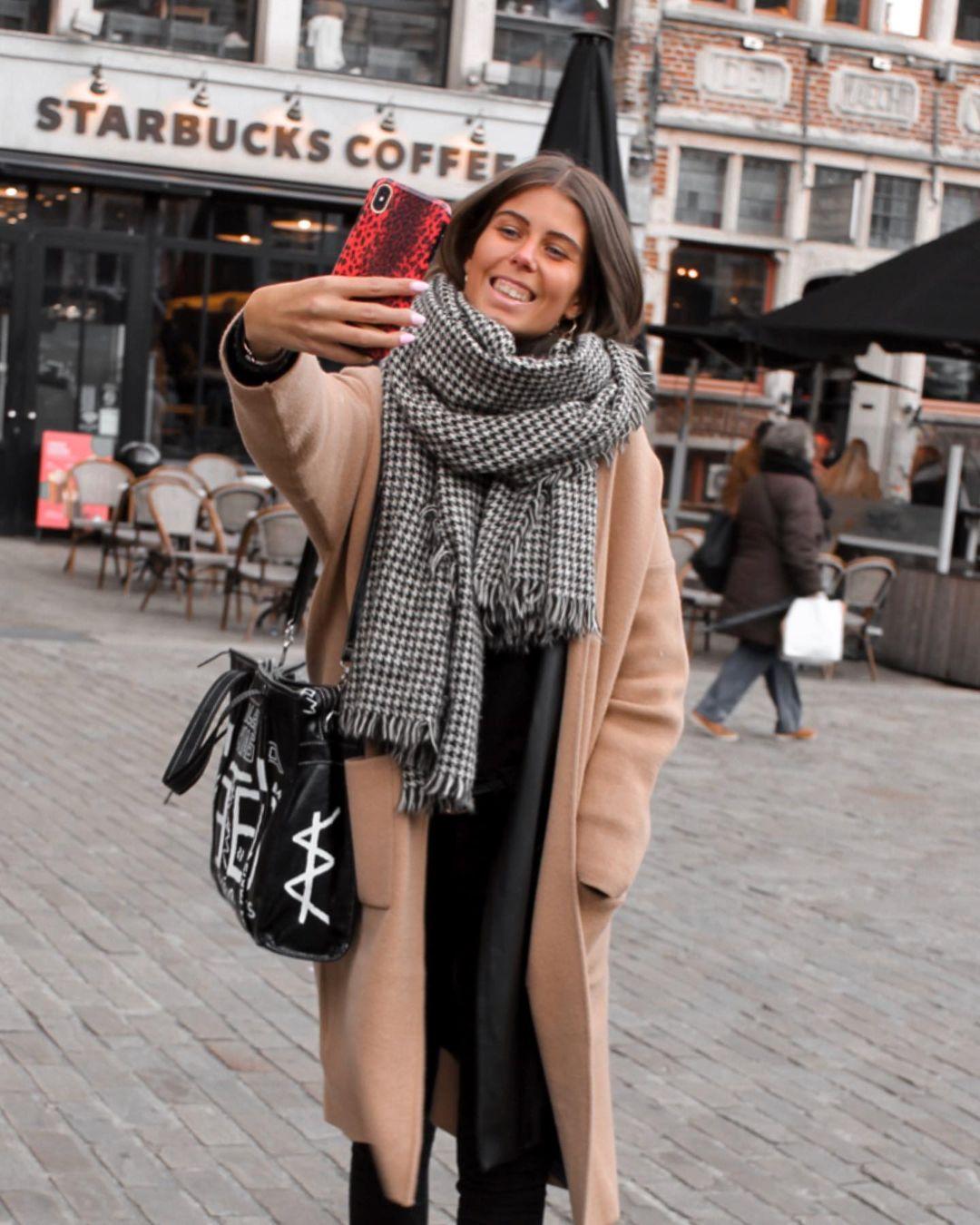 houndstooth scarf de Zara sur nooomsworld