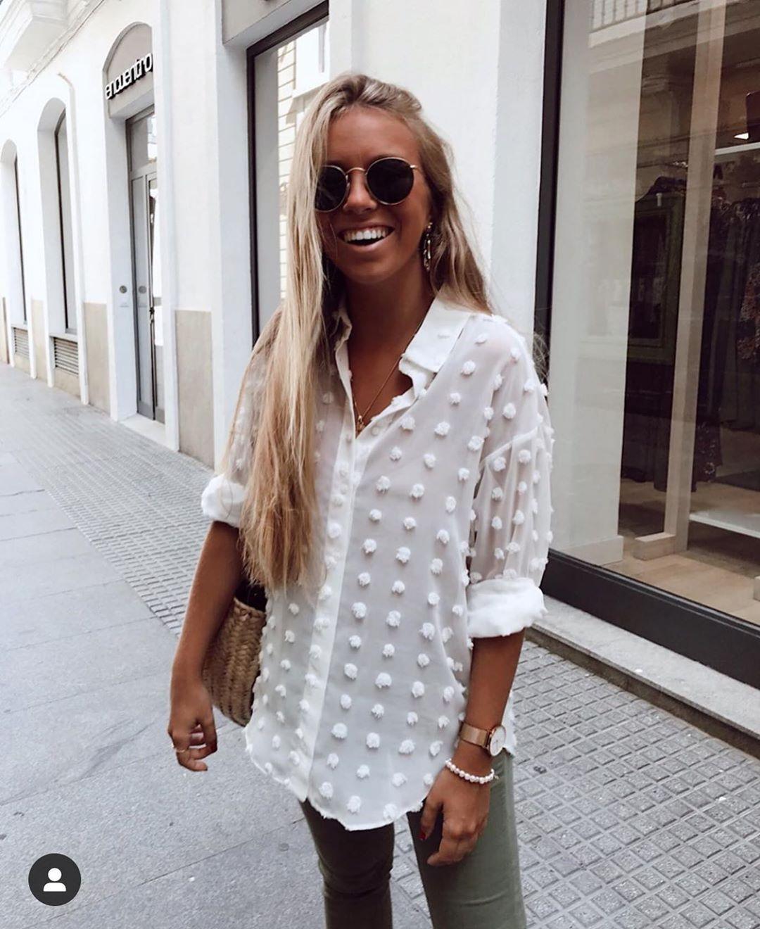 chemise à pois de Zara sur zara.outfits