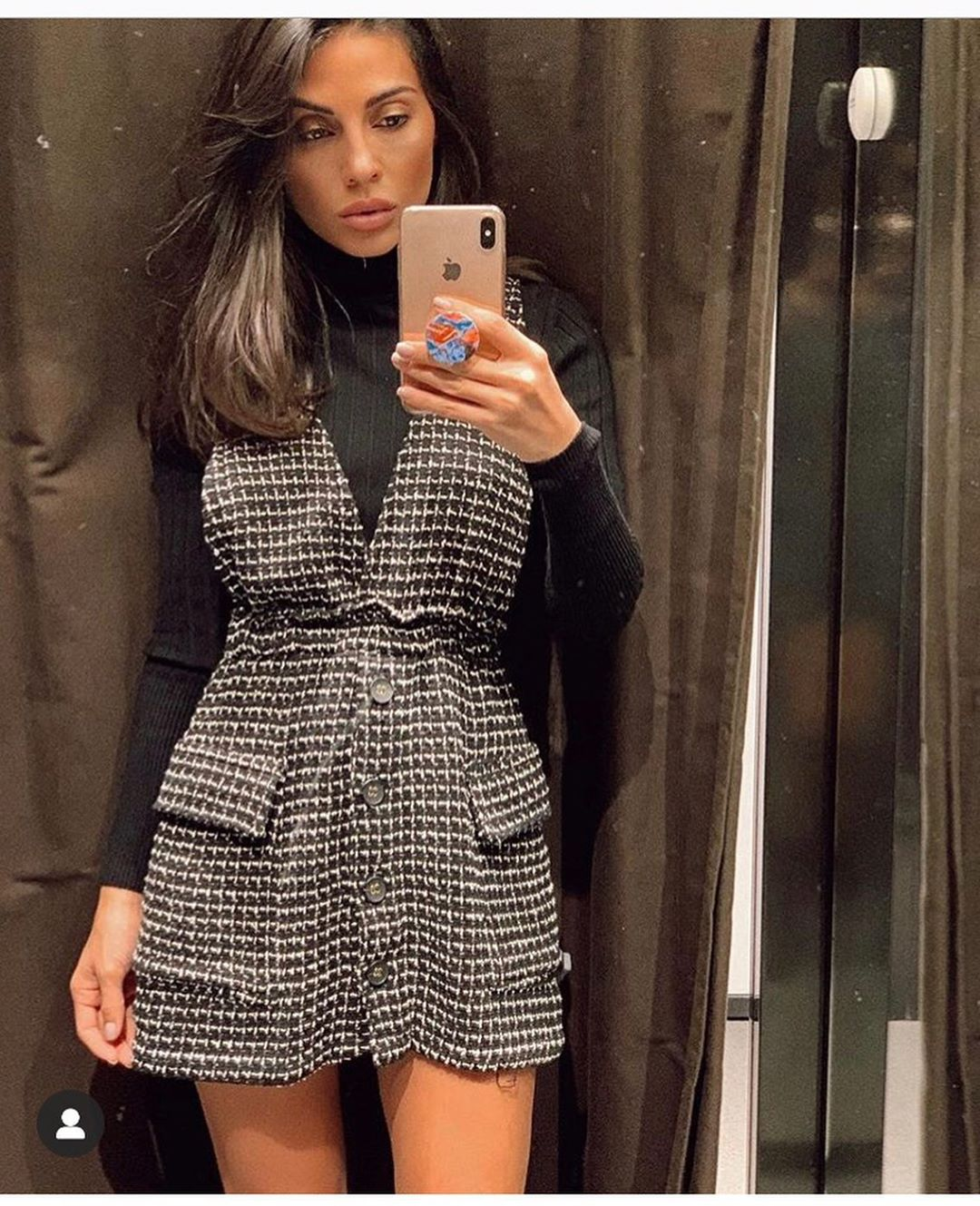 tweed bib overalls dress de Zara sur look_by_zara_hm