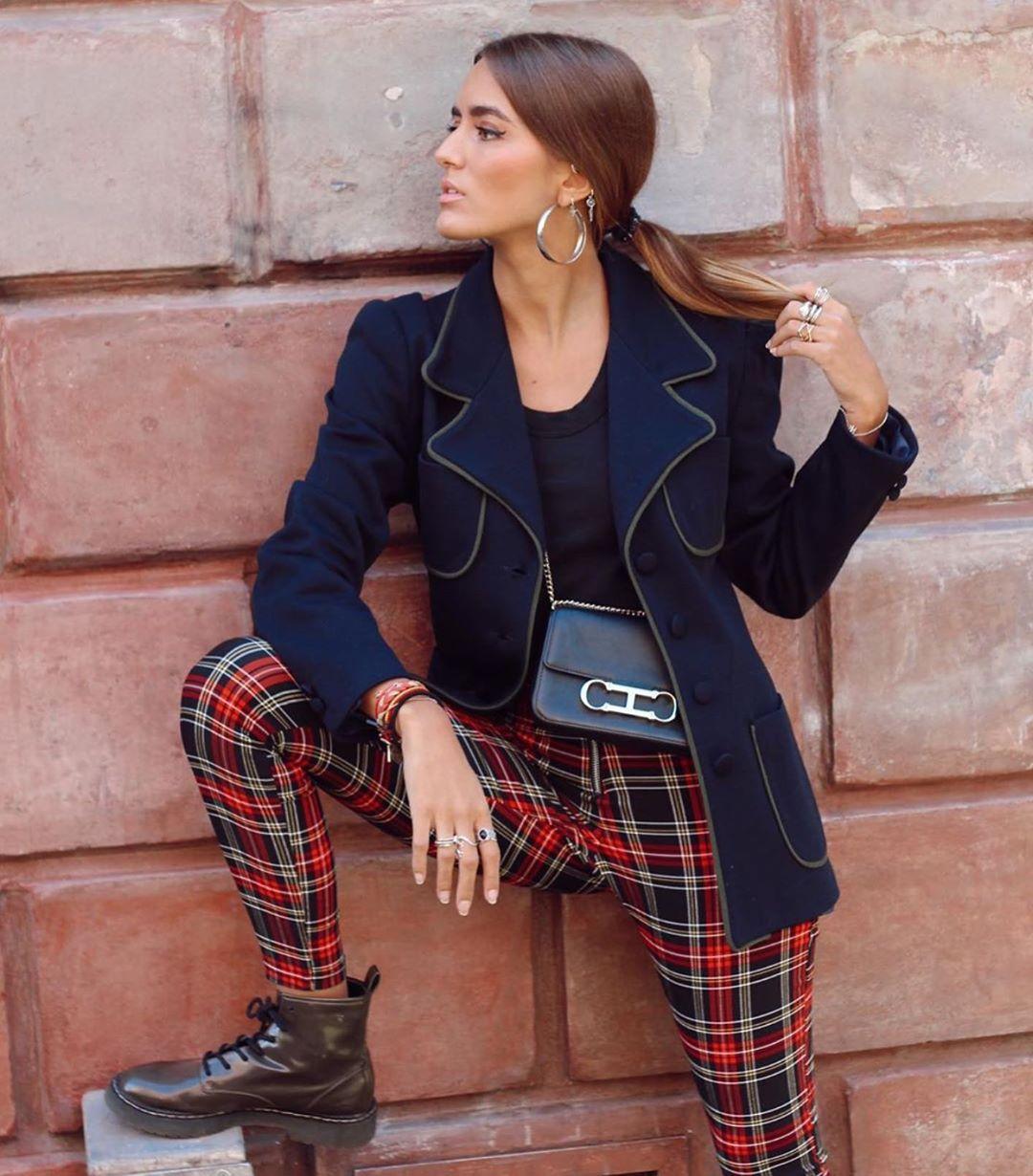 plaid leggings de Zara sur zara__lovers