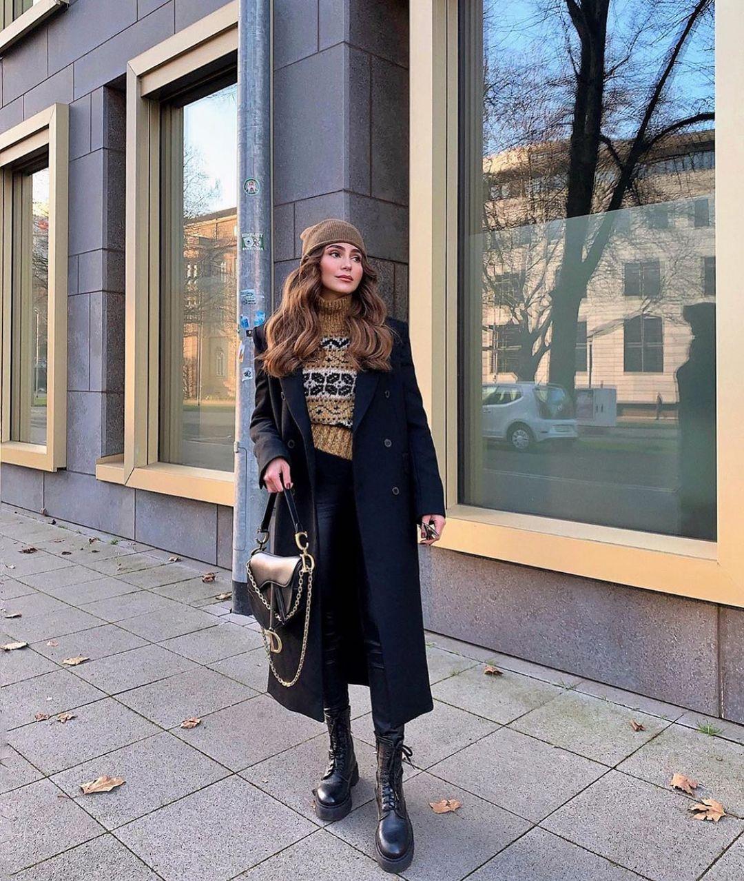 jacquard sweater with glassware de Zara sur zarastreetstyle