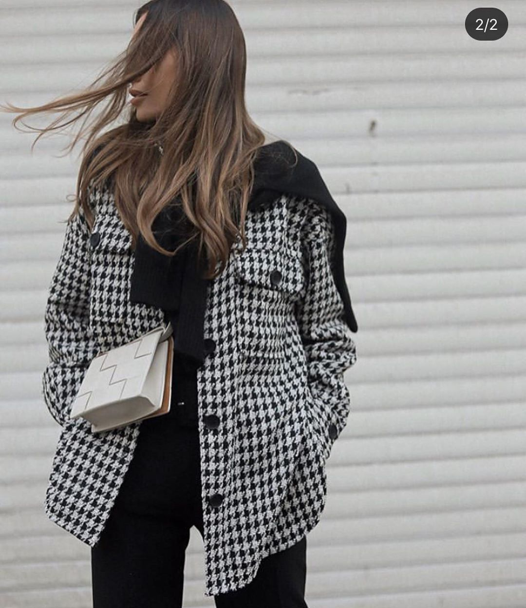 plaid long overshirt de Zara sur look_by_zara_hm