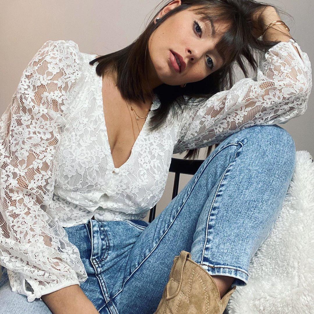 blouse blanche dentelle de Les Bourgeoises sur lesbourgeoisesofficiel