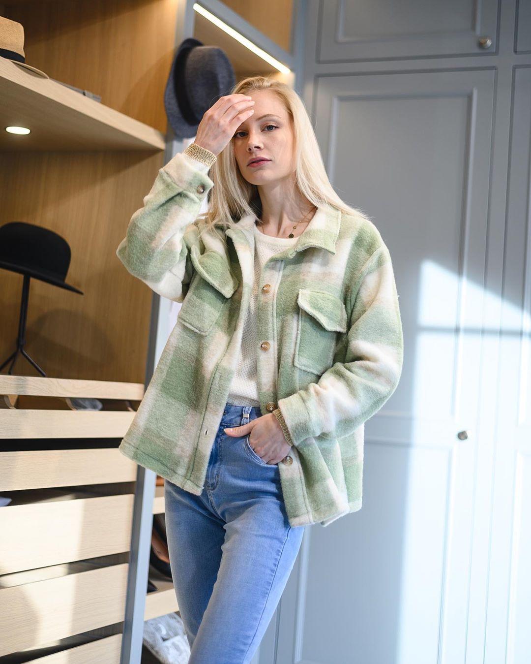 veste bucheron verte de Les Bourgeoises sur lesbourgeoisesofficiel
