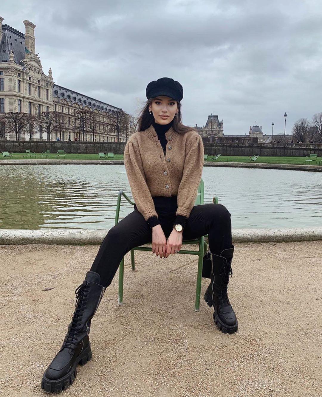 wool blend cardigan with rhinestone buttons de Zara sur zarastreetstyle