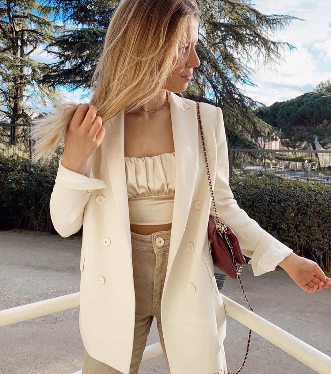crossover breasted jacket de Zara sur zaraaddiction