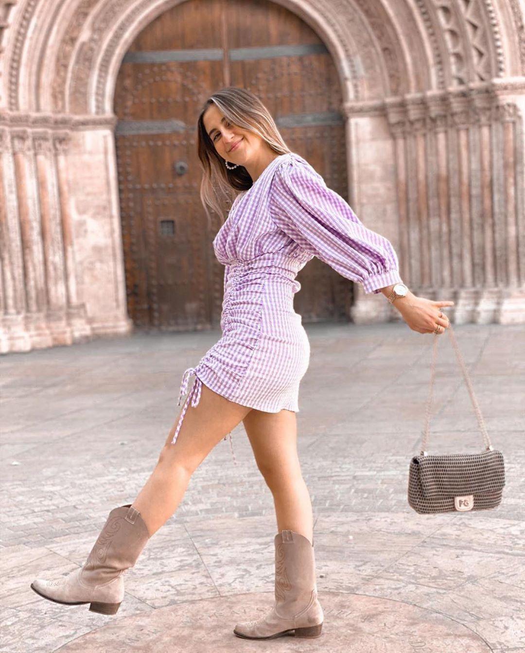 robe à carreaux vichy de Zara sur zara.outfits