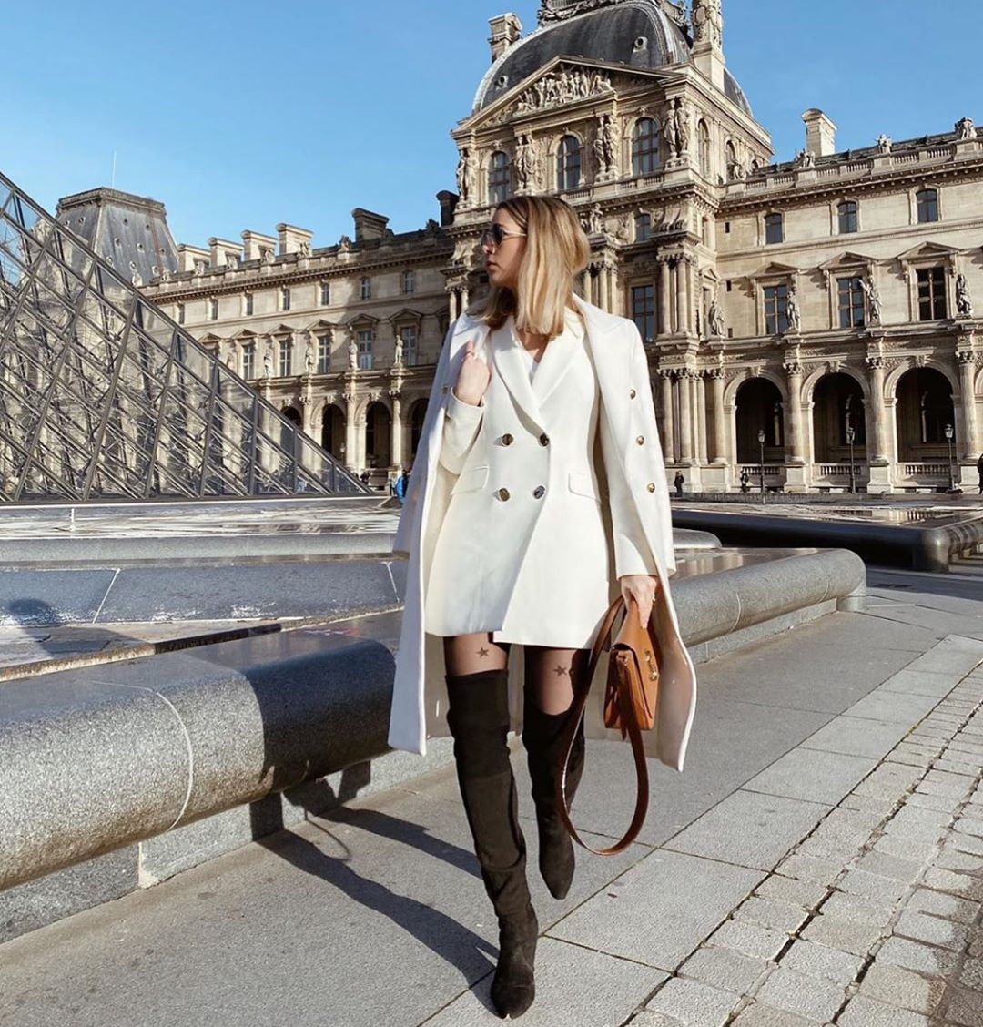 cross breasted long jacket de Zara sur zarastreetstyle