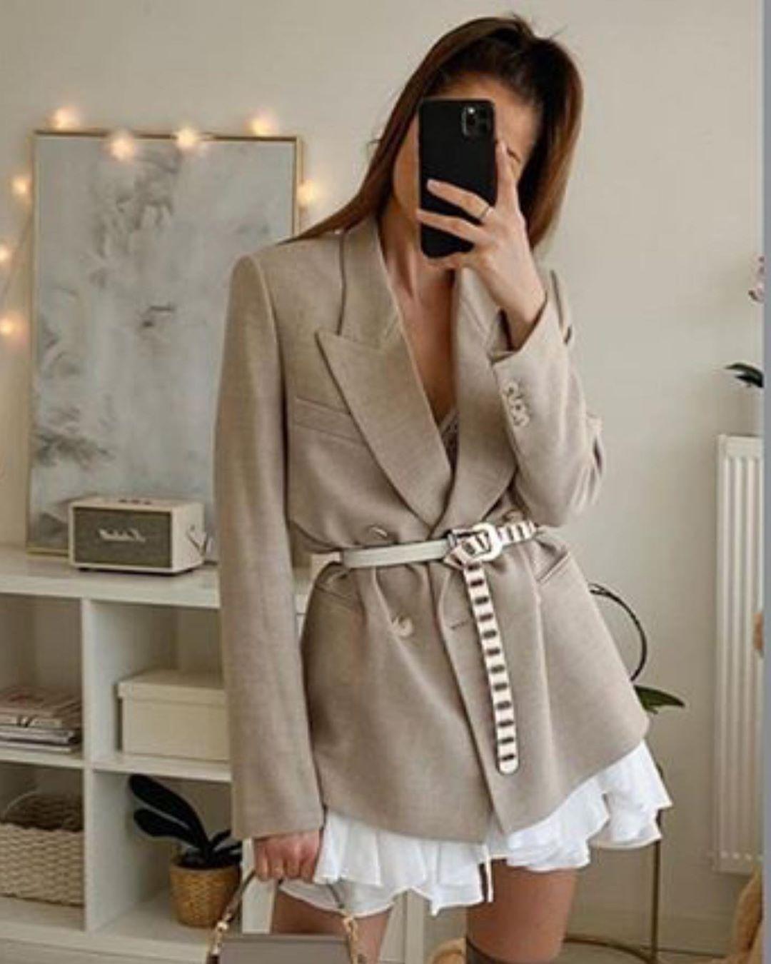 frock coat with button wool de Zara sur look_by_zara_hm