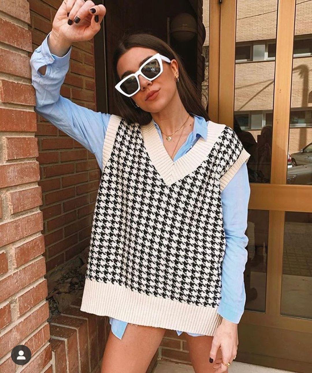 oversize mesh vest de Zara sur look_by_zara_hm