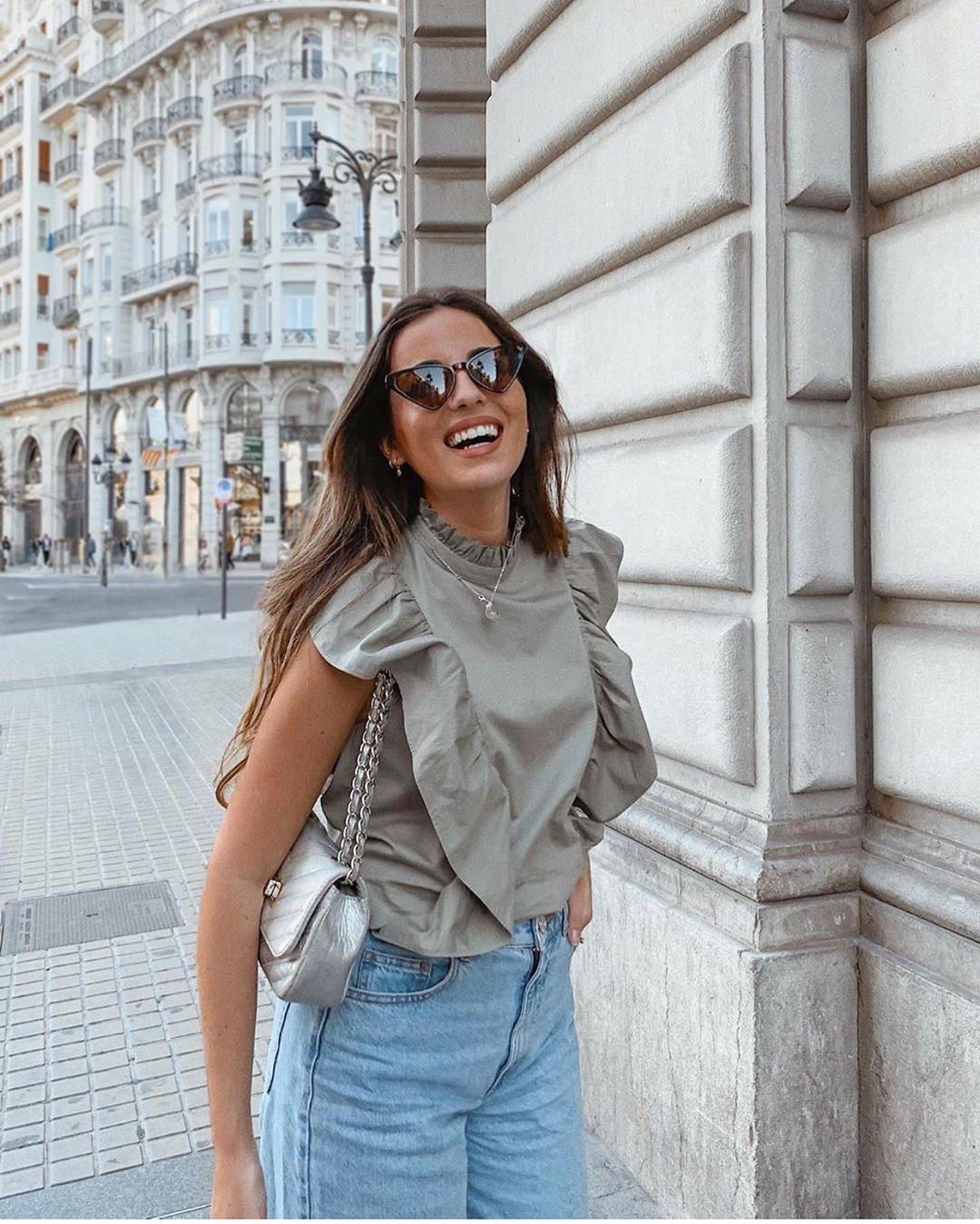 jean taille haute bootcut de Zara sur zara.outfits