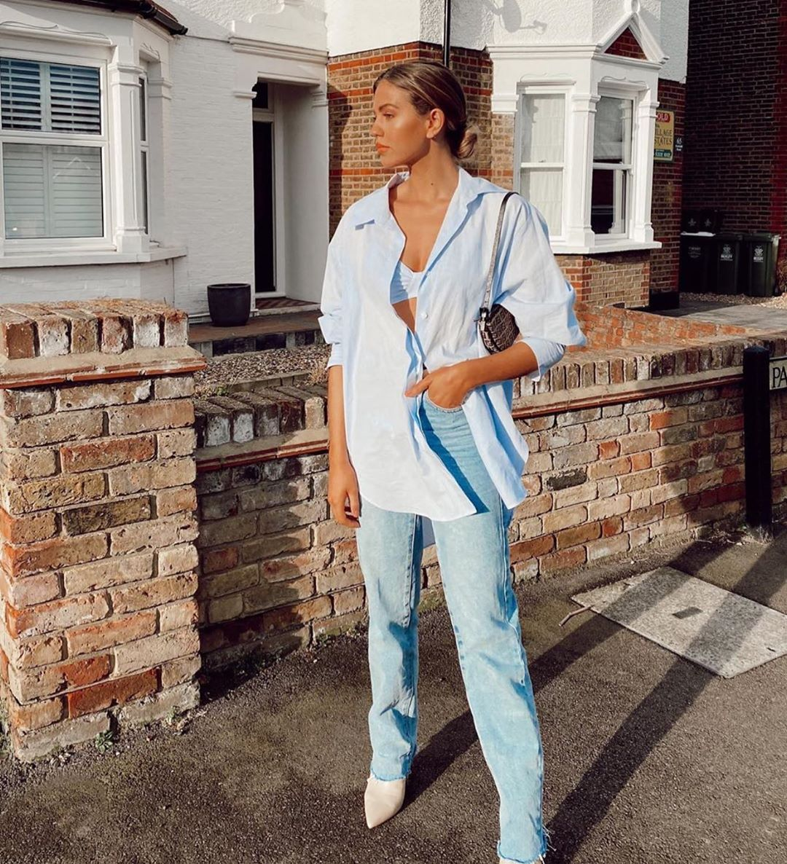 jean taille haute coupe longue de Zara sur zara.outfits