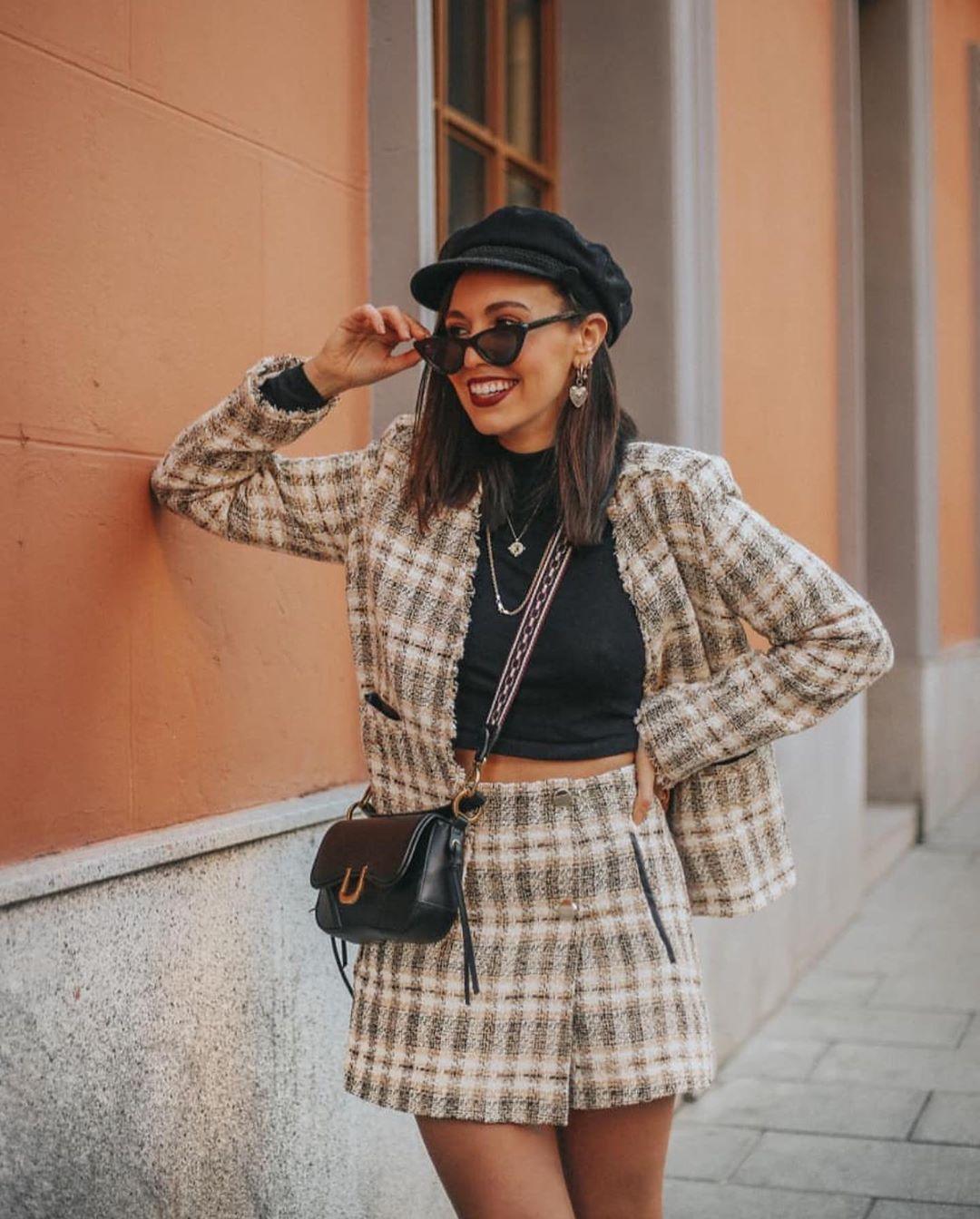bermuda en tweed de Zara sur zara.outfits