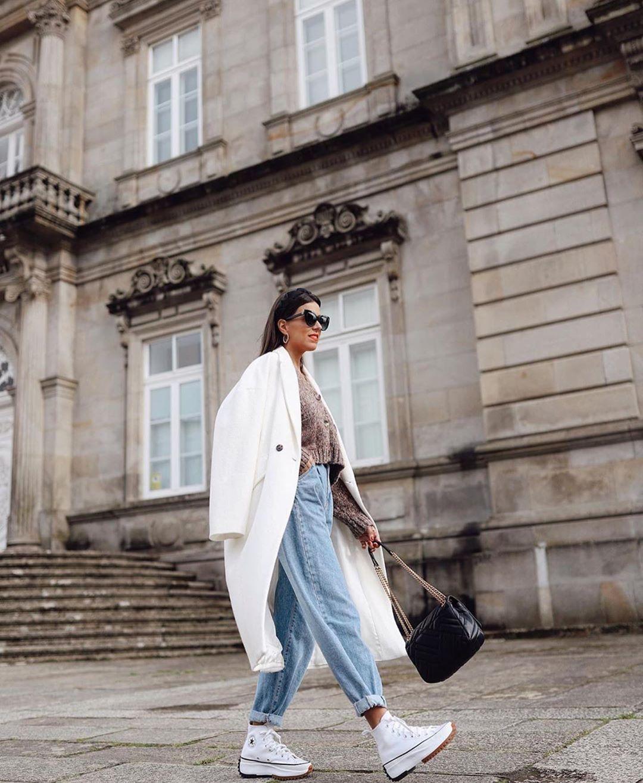 jean z1975 baggy à taille plissée de Zara sur zara.outfits