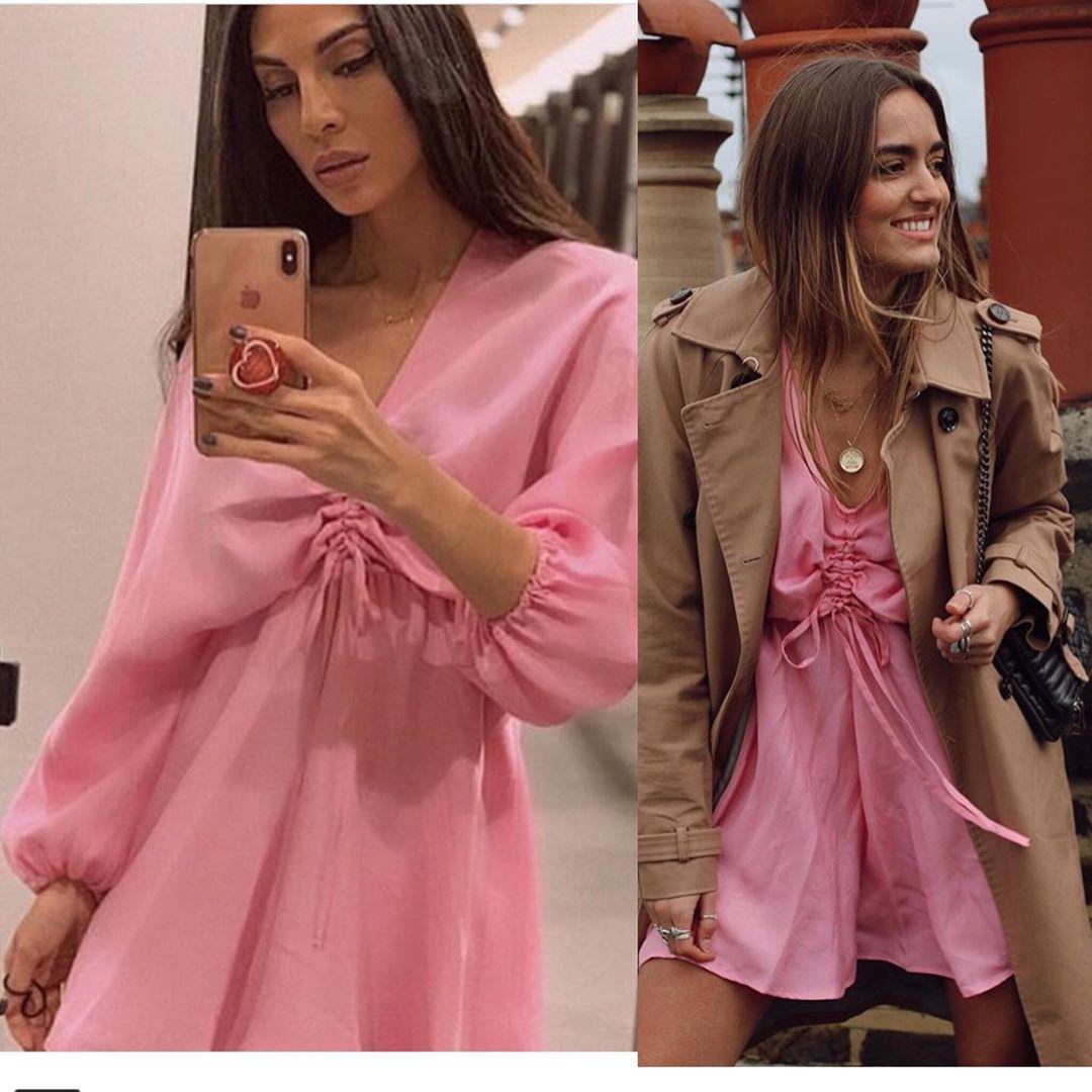 satin draped dress de Zara sur look_by_zara_hm