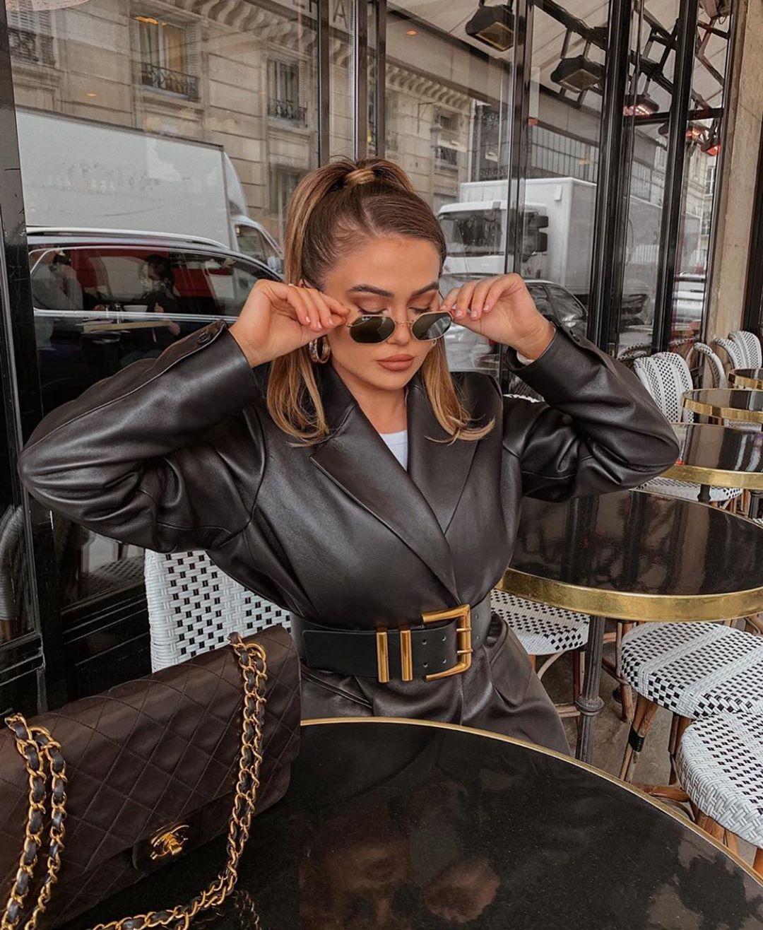 double loop buckle belt de Zara sur zarastreetstyle