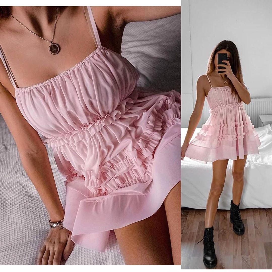 ruffled tulle dress de Zara sur look_by_zara_hm