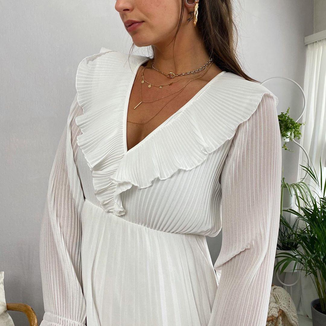 robe longue blache de Les Bourgeoises sur lesbourgeoisesofficiel