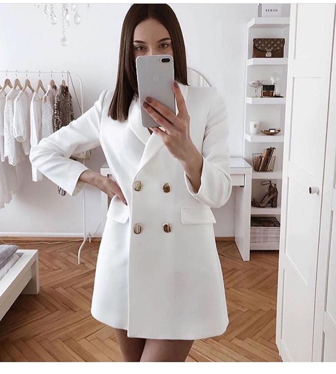 cross breasted long jacket de Zara sur look_by_zara_hm