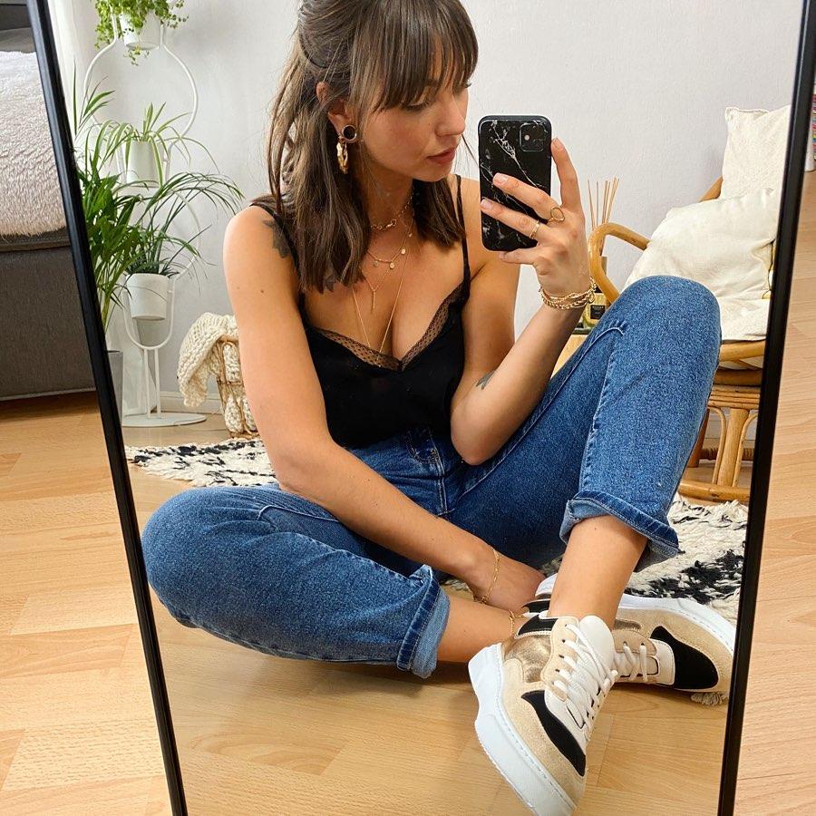 jeans droit de Les Bourgeoises sur lesbourgeoisesofficiel