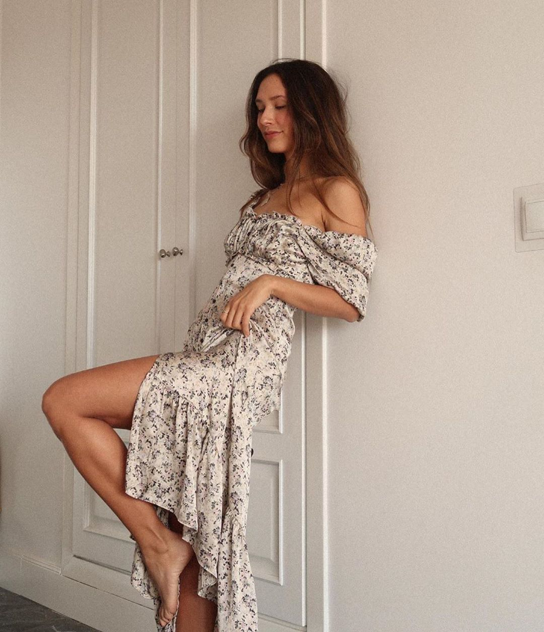 printed satin dress de Zara sur zaraaddiction