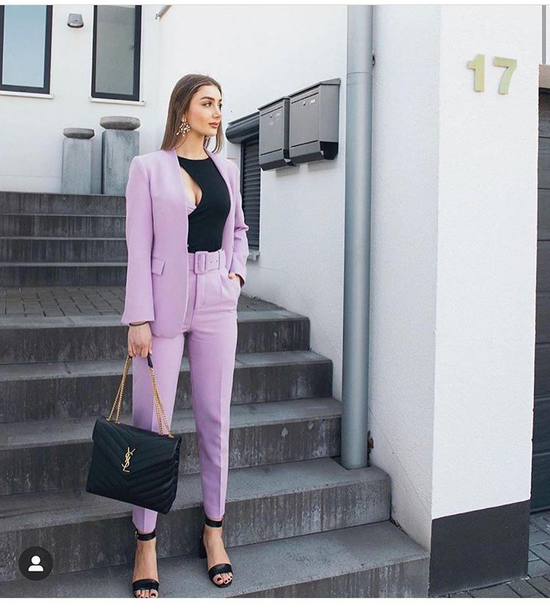 jacket with v neckline de Zara sur look_by_zara_hm