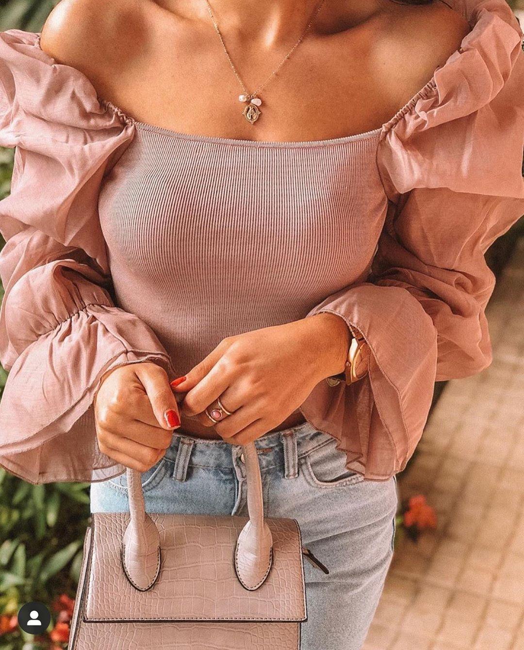 top avec organza de Zara sur zara.outfits