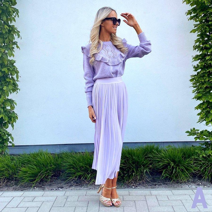 jupe plissée de Zara sur jottiverbruggen