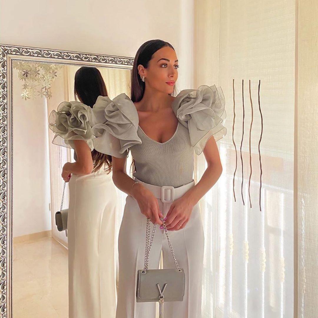top court en organza de Zara sur zara.outfits