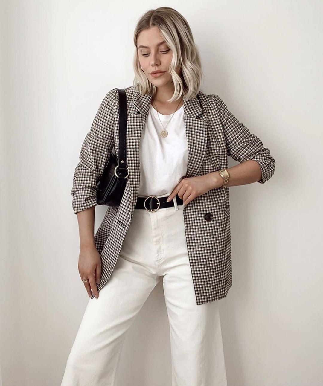 veste à carreaux de Zara sur zara.outfits