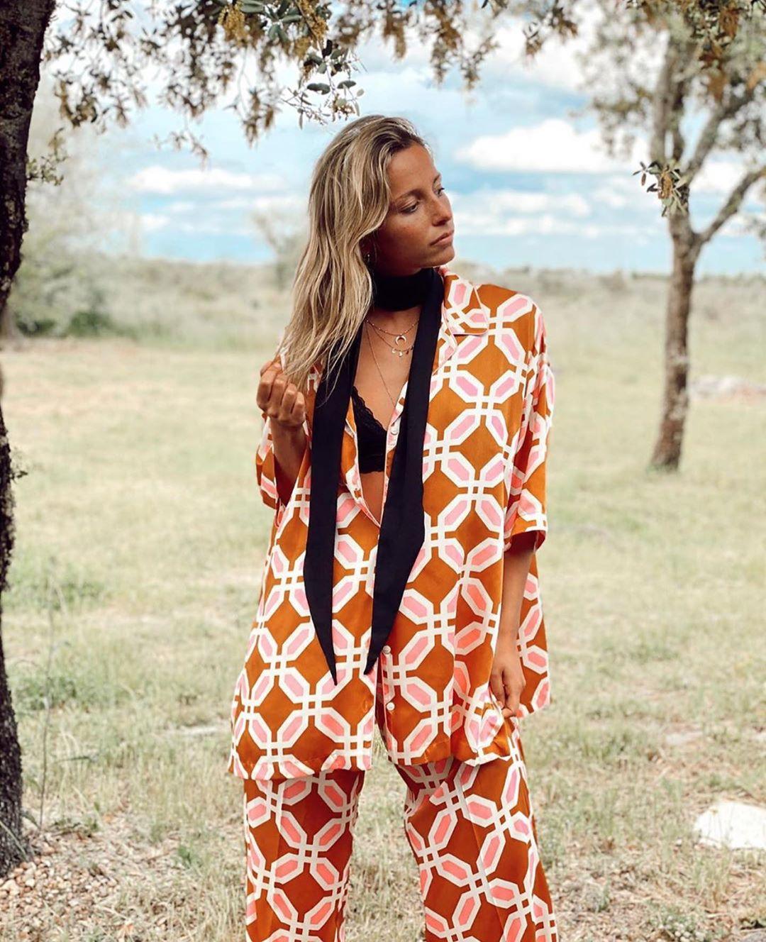 chemise type pyjama imprimée de Zara sur zara.outfits