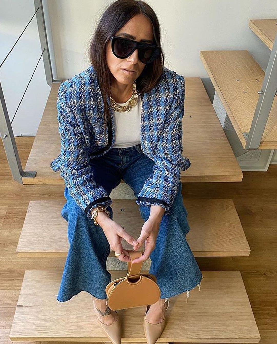 tweed jacket de Zara sur zara_hm_look_style